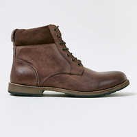 Brown Leather Cuff Boots