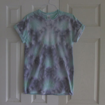 Nautical Mermaid Scales Tie Dyed Tee Shirt