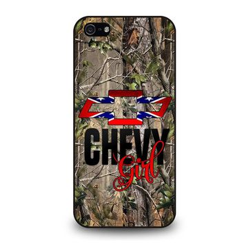 CAMO BROWNING REBEL CHEVY GIRL iPhone 5 / 5S / SE Case Cover