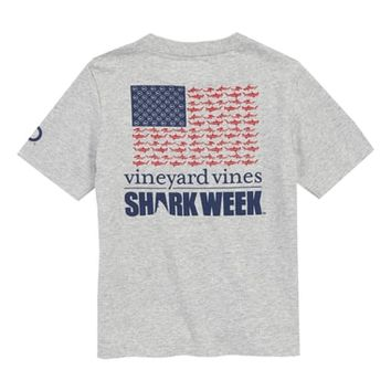 vineyard vines x Shark Week™ Sharks & Stripes Pocket T-Shirt (Toddler Boys, Little Boys & Big Boys) | Nordstrom