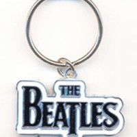 BLACK LOGO METAL/CERAMIC KEYCHAIN [3601] - $9.00 : Beatles Gifts, The Fest for Beatles Fans