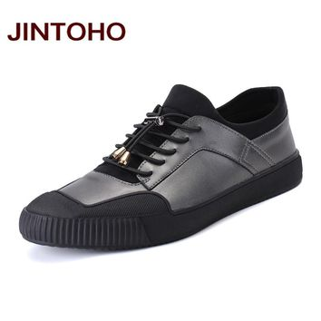 Fashion Mens Loafers Shoes Men Casual Leather Shoes Designer Men Flats Breathable Male Boat Shoes Loafers