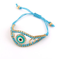 Blue String Roung Evil Eye Bracelet