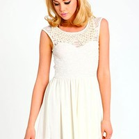 Beaded Collar Dress