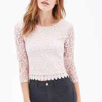 Crochet Trim Lace Top