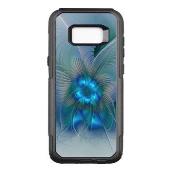 Standing Ovations, Abstract Blue Turquoise Fractal OtterBox Commuter Samsung Galaxy S8+ Case