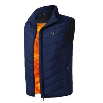 Clothes With Heated Men USB Electric Heated Vest Lower Voltage Adjustable Temperature Waistcoat Thermal Warm Winter Jacket