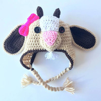 Girls Crochet Goat Hat for pictures - Baby outfits for pictures - baby outfit for photos - Girls Goat Halloween Costume - Baby shower gift