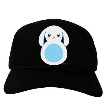 Cute Bunny with Floppy Ears - Blue Adult Dark Baseball Cap Hat by TooLoud
