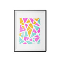 Pretty Colors - Abstract Geo Print