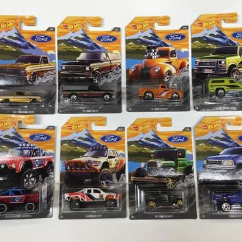 New 2018 Hot Wheels Walmart Exclusive Ford Truck Series Full Set 1-8 Trucks