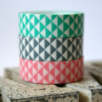 Pastel Triangle Mint/Light Pink/Gray Washi Tape(Choose One)