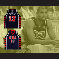 Tim Duncan USA Team Basketball Jersey New Any Size Online Tracking