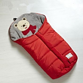 Free shipping Baby friendly multifunctional sleeping bag holds baby blankets style baby stroller sleeping bag 82cm length