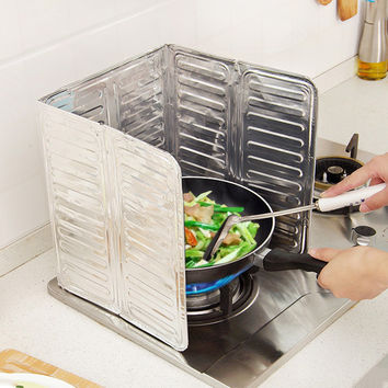 Kitchen Oil Aluminium Foil Plate Gas Stove Oil Splatter Screens