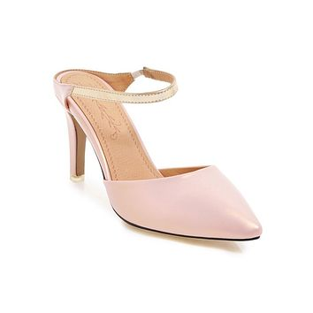 Pointed Toe High Heels Stiletto Sandals Summer Shoes 6318
