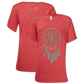 Southern Couture Lightheart Dreamcatcher Front Print Triblend T-Shirt