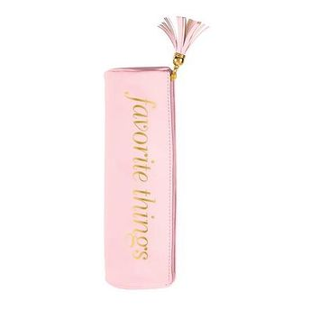 Favorite Things Round Pouch / Vibrator Cozy with Tassel in Baby Pink