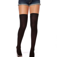 Dana Black Over the Knee Socks $17.00