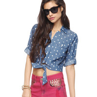Polka Dot Chambray Shirt | FOREVER21 - 2000037821