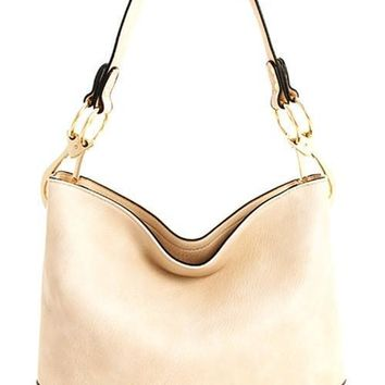 Beige Piper Hobo Bag