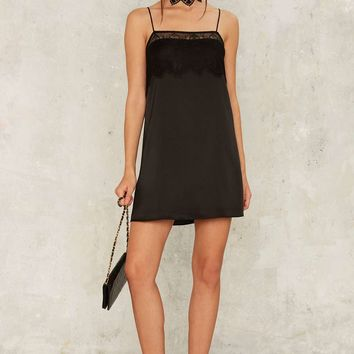 Too Bad Satin Slip Dress