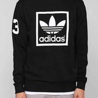 adidas Originals Trefoil Crew-neck Sweatshirt- Black