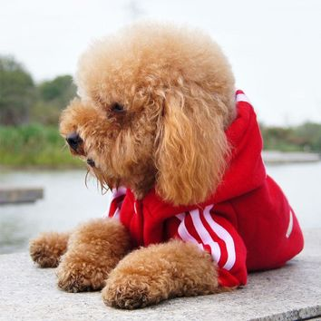 Fashion Cotton Small Sweater Pet Sports Costumes Autumn Dog Clothes Fleece Jacket Hoodie Provide Products For Dogs S M L XL XXL