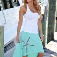 Starfish Aqua Beach Skirt