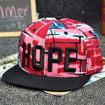 Red Hip Hop Style Cap Hot Summer Gift 42
