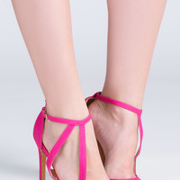 Swoop Up Faux Leather Heels