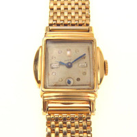 Art Deco Gotham Gold Watch