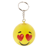 Heart Eye Emoji Stress Ball Keychain