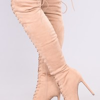 Alessa Over The Knee Boots - Nude