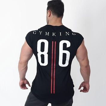 Mens Cotton T-shirt 2018 New Gyms Fitness Bodybuilding Workout t shirt Man Summer Casual Fashion Print Tees Tops Brand Clothing