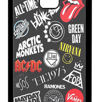 All Time Low, Arctic Monkeys ACDC 5SOS Band Logo Samsung Galaxy S5 Cases - Hard Plastic, Rubber Case