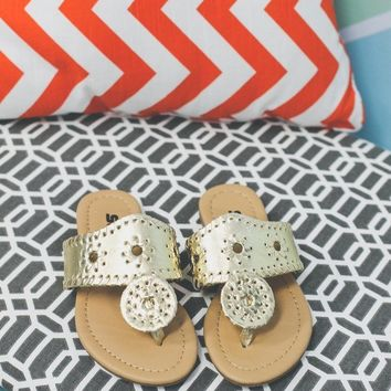 Girls Boho BB Sandal - Gold