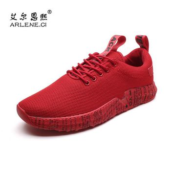 2018 New Arrival Tennis Shoes for Men Air Mesh Breathable Outdoor Sneakers Lace Up Athletic Sports Shoes for Men Zapatos Hombre