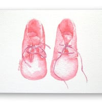 Pink Baby Booties Congratulations Card