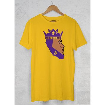 LeBron James King James Los Angeles LA Lakers 23 Goat Unisex Graphic T Shirt