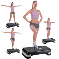 Step Trainer Adjustable Exercise Fitness Workout Stepper Home Training Equipment