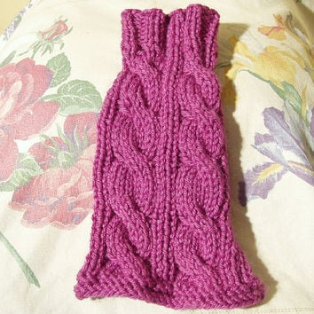 Dog Sweater Hand Knit Spring Cable XX Small by jenya2 on Etsy