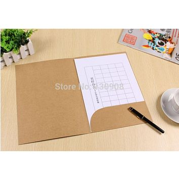 size 22*31cm A4 kraft Paper file folder for office use,Paper presentation folder with pocket