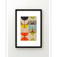 SWAN no.3 - Giclee Print - Mid Century Contemporary Modern Abstract Modernist Art