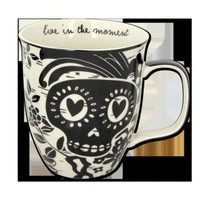 Sugar Skull Black and White Mug