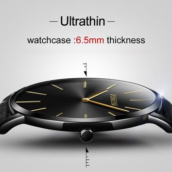 6 Mm Slim Watch Men's Fashion Watch Simple Quartz Trend Business Casual Watches Luxury Waterproof Watch