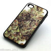BLACK Snap On Case iPhone 4 4S Plastic Cover OG KUSH WEED CHRONIC marijuana pot