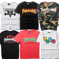 Thrasher Sweatshirt Pullover Anime Hoodies For Men Ripndip Men's Hoodies And Sweatshirts Trasher Palace Skateboard Sweatshirt