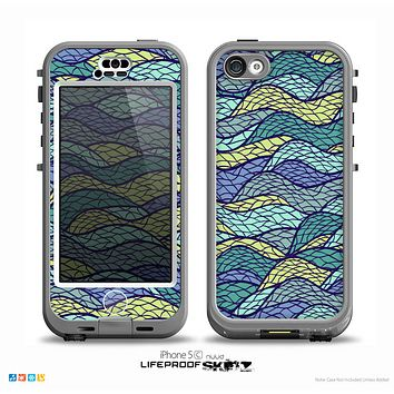 The Green and Blue Stain Glass Skin for the iPhone 5c nüüd LifeProof Case
