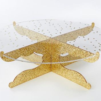 Gold Glitter Acrylic Cake Stand - Party Time